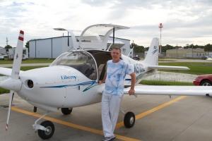 The Intrepid Pilot & his new toy. Merritt Island, FL, 6/8/13