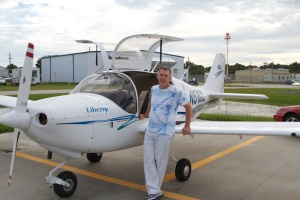The Intrepid Pilot & his new toy. Merritt Island, FL, 6/8/13