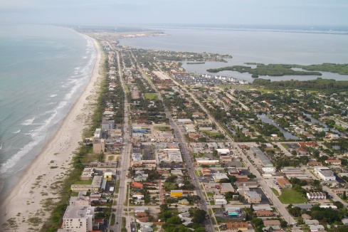 South Cocoa Beach, Patrick Air Force Base in the distance 6/8/13