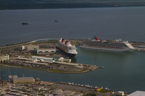 Cruise ships in Port Canaveral 6/8/13