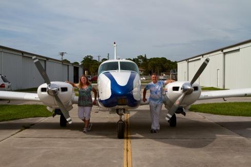 The Intrepid Pilot, his S.O. & their roomier plane Merritt Island, FL, 6/8/13