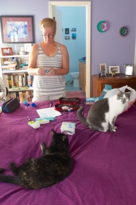 Patti & Nickie getting organized 9/1/13