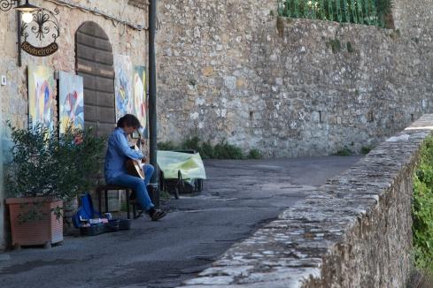 Street Busker Volterra, Italy, 9/11/13