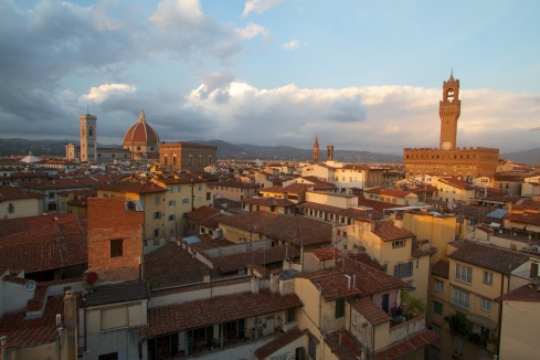 Sunset over Florence Florence, Italy, 9/17/13