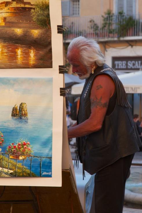 Artist, Piazza Navona Rome, Italy, 9/18/13