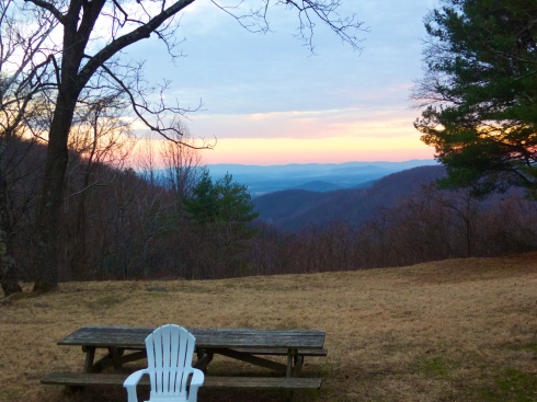 The view the first night Near Stanardsville, VA, 1/9/14