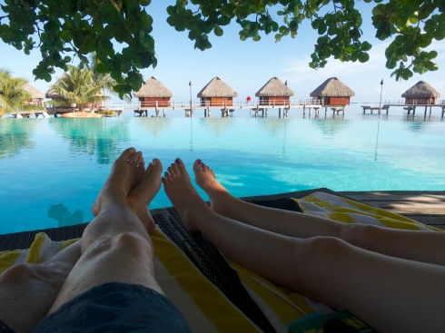 Relaxing pre-cruise at the Moorea Pearl Resort, Moorea, 9/27/14