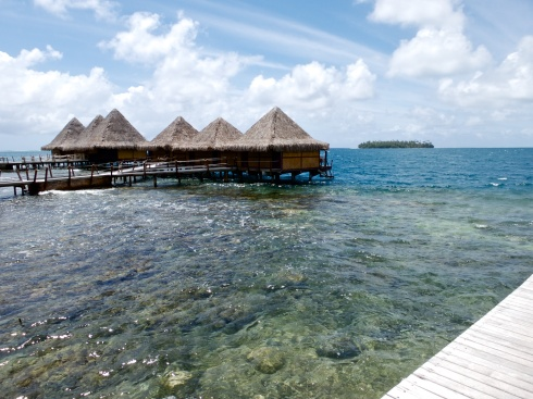 Over water bungalows, The Hawaiki Hotel, Raiatea, 9/28/14