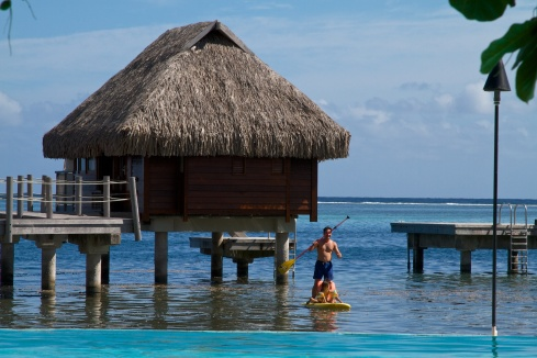 An over water bungalow, The Pearl Resort, Moorea, 9/27/14