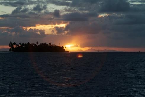 Sunrise over Huahine, Raiatea, 9/29/14