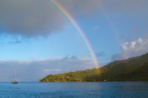 Early morning sunrise, Off Huahine, 10/2/14