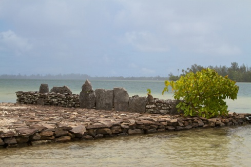 A Marae in the Mata'ire'a Archeological site on Huahine, 10/2/14
