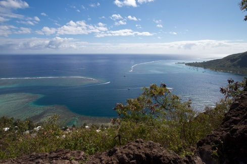 View of a lagoon pass, Moorea, 9/26/14
