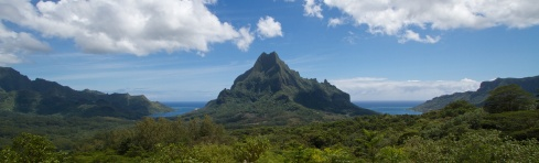 The view from the Belvedere, Moorea, 9/26/14