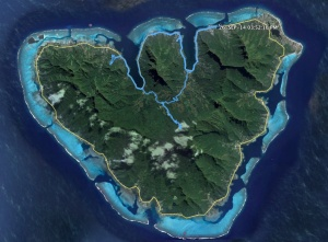 The blue line is our path on the Moorea day trip on 9/26/14